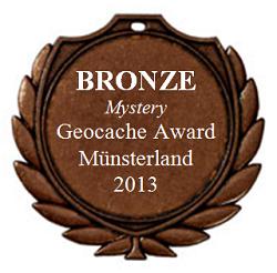 BRONZE (Mystery) - Geocaching Award Kreis Borken 2013