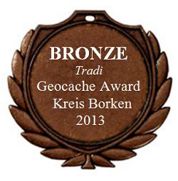 BRONZE (Tradi) - Geocaching Award Kreis Borken 2013